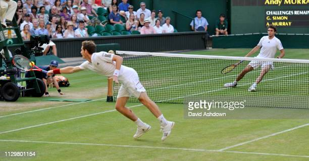 WIMBLEDON 2010 6th day 26/6/2010 ANDY MURRAY DURING HIS MATCH WITH GILLES SIMON