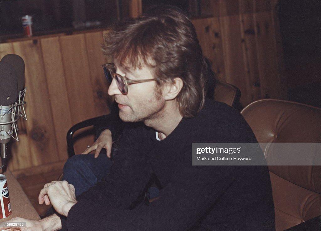 John And Yoko At The Hit Factory : News Photo