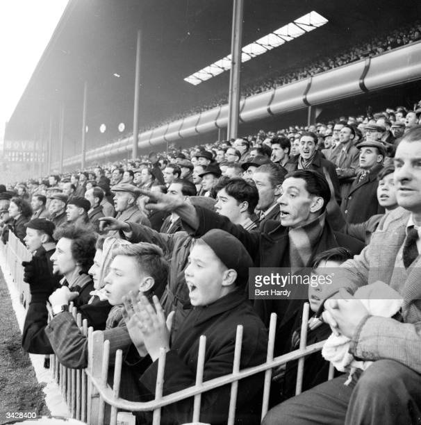 Fans of Aston Villa Football Club watch their team play a home game at Villa Park in Birmingham Original Publication Picture Post 6979 The Best And...