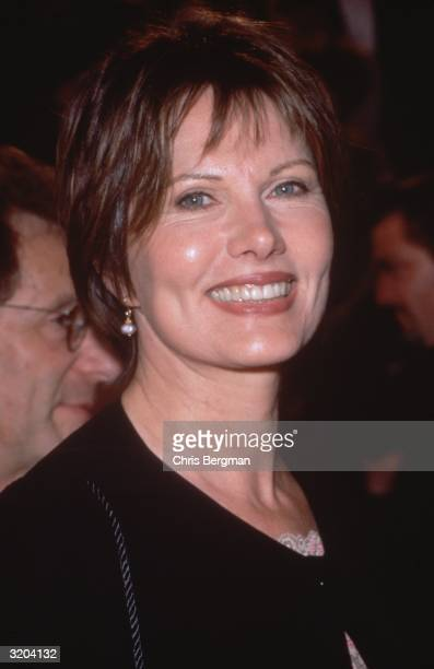 Headshot of Swedish-born actor and model Maud Adams at the American Comedy Awards, held at the Shrine Exposition Center in Los Angeles. Adams is...