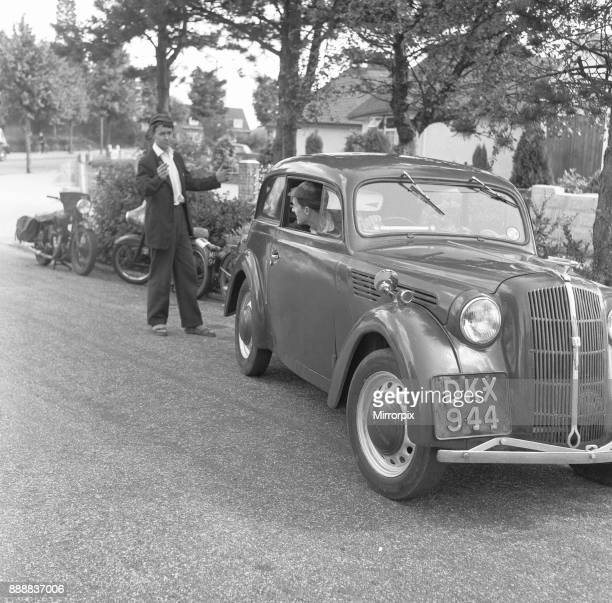 6th Form pupils of Bournemouth Grammar School seen here parking the car after driving to school 16th July 1960
