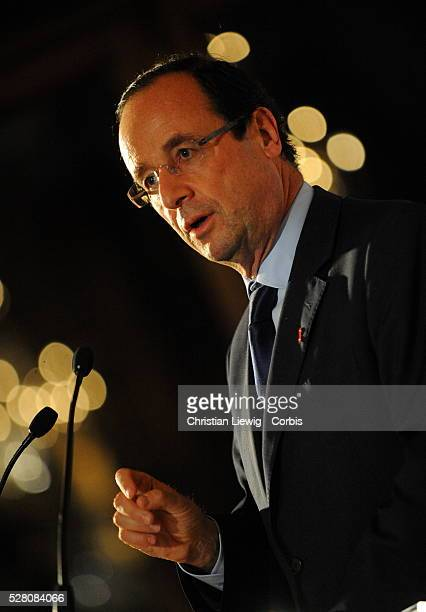 6th General Meeting of Local Representaives against AIDS attending Socialist and Presidential candidate Fran��ois Hollande Anne Hidalgo and Brigitte...