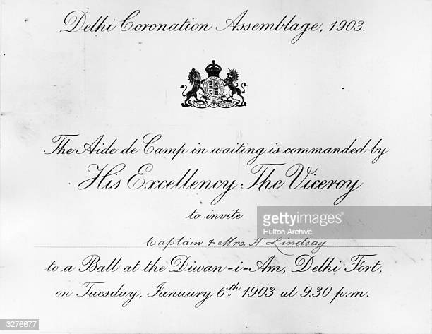An invitation from the Viceroy of india to the Delhi Coronation Assemblage 'The Durbar Delhi' Album