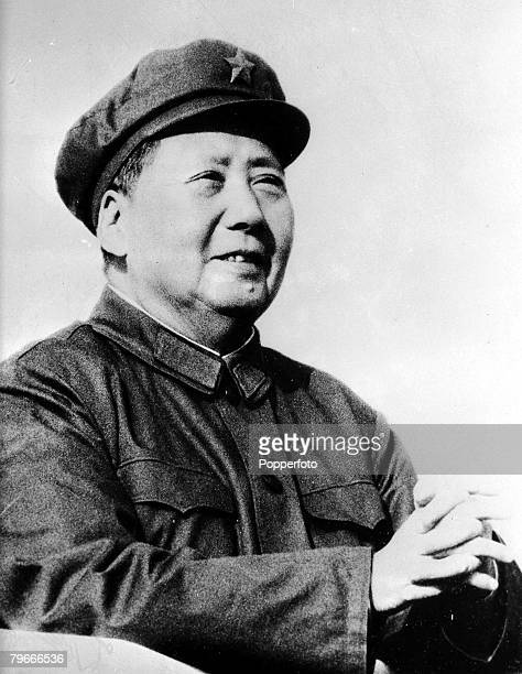 6th January 1967 Chinese communist Chairman and leader of the cultural revolution Mao TseTung pictured in Peking China