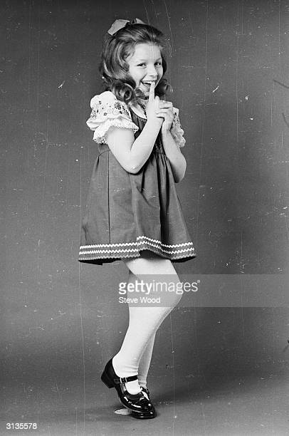 Scottish singer and light entertainer Lena Zavaroni at the age of ten. Lena became a child star after appearing on the TV talent show 'Opportunity...