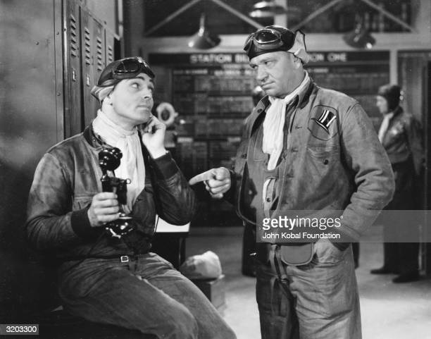 Wallace Beery and Clark Gable in a scene from 'Hell Divers' directed by George W Hill