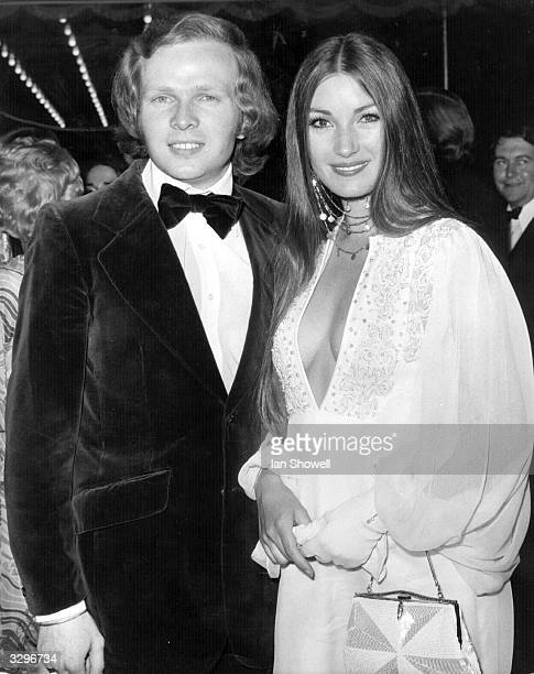 Actress Jane Seymour at the London premiere of her latest film 'Live And Let Die' with her husband Michael Attenborough