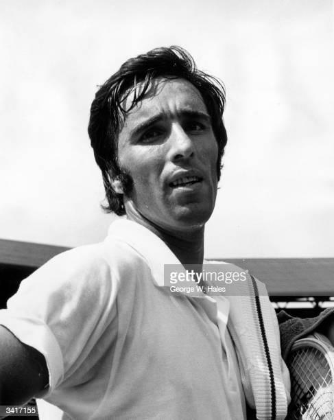 Soviet tennis star Alex Metreveli at the Wimbledon Tennis Championships