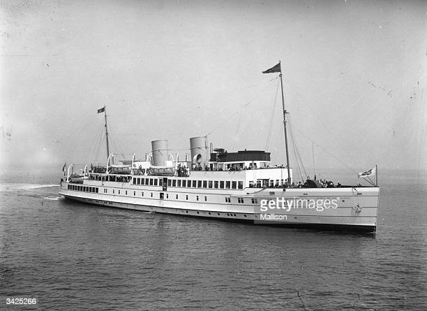 'Queen of the Channel' a New Medway Steam Packet Company pleasure boat designed for the journeys between Britain and France