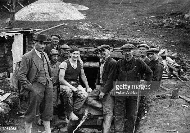 Glamorgan coal miners ready to descend the mine