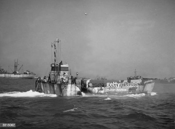 A landing craft bound for Normandy