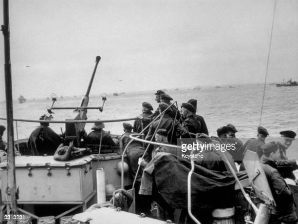 British troops on their way to Normandy to take part in the DDay landings