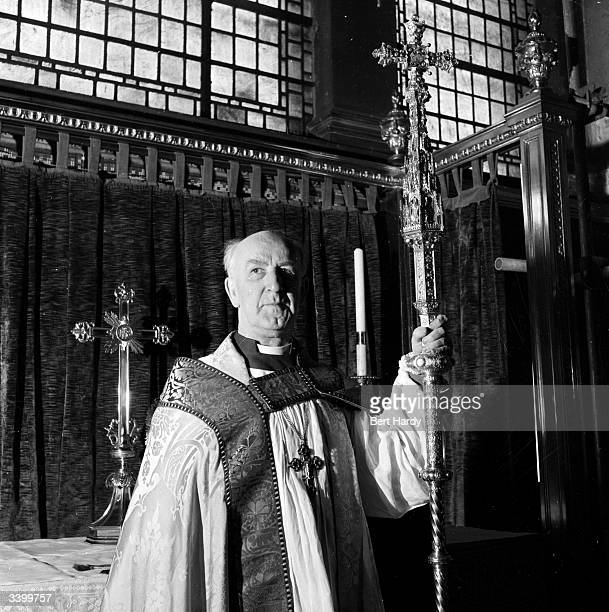 Dr Geoffrey Fisher Archbishop of Canterbury who will perform Queen Elizabeth II's coronation ceremony Original Publication Picture Post 6530 The Man...