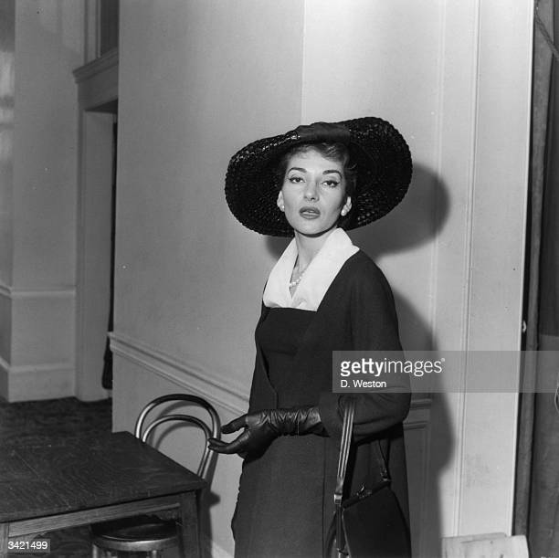 American operatic soprano Maria Callas in London