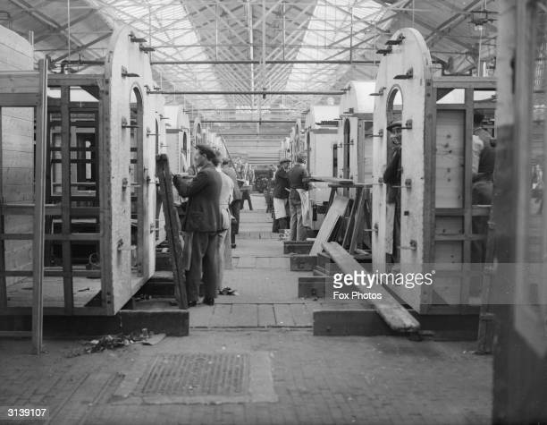 Interior of the Great Western Railway Carriage Works at Swindon