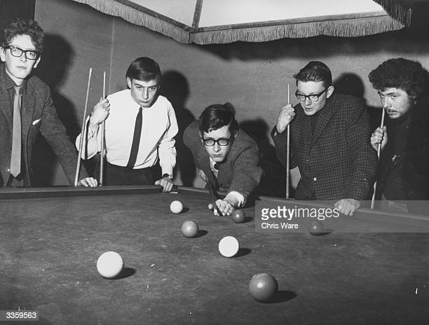 Students playing billiards at Oxford University
