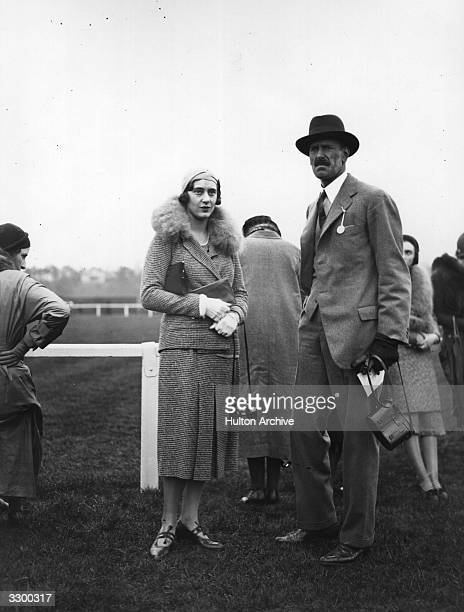 The Duchess of Westminster Loelia third wife of the 2nd Duke of Westminster Hugh Richard Arthur Grosvenor whom he divorced in 1947 seen here with...
