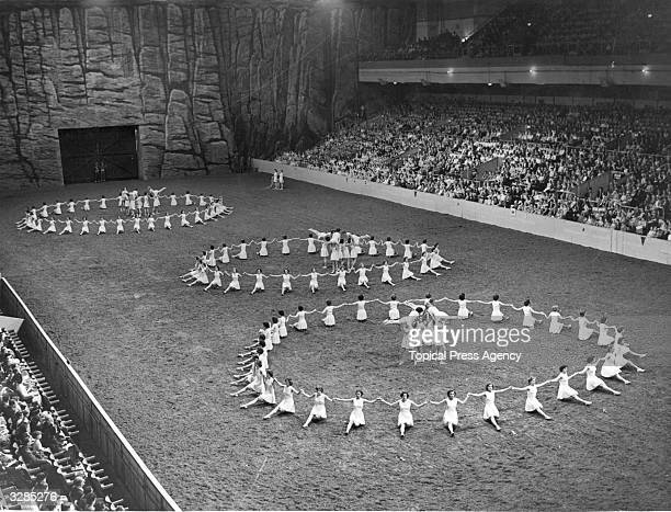 The Physical Training Display by the combined Womens Services during the Royal Tournament at Earls Court London
