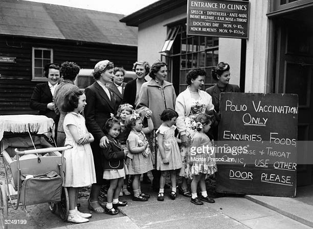First injections for children against polio at the Hendon clinic