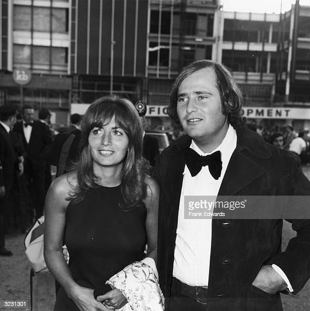 Married American actors Rob Reiner and Penny Marshall smile as they attend the Emmy Awards at the Hollywood Palladium Hollywood California Reiner was...