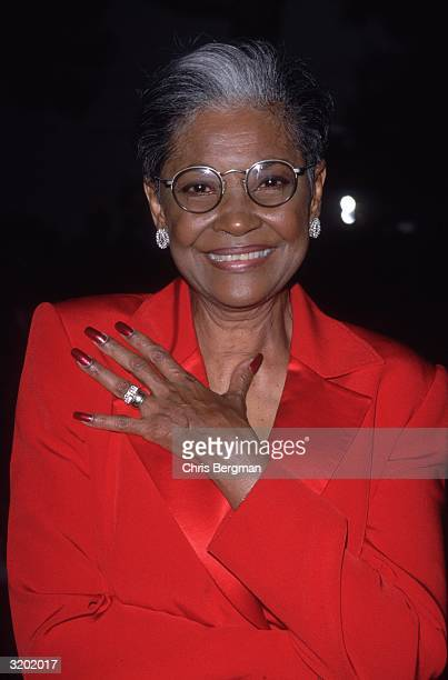 American jazz and pop singer Nancy Wilson smiles while attending the Black Entertainment Television 20th Anniversary Celebration at Bally's/Paris...