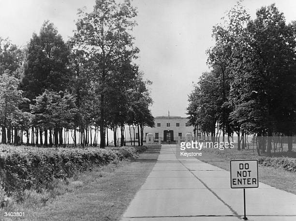 The entrance to the Gold Depository Fort Knox in Kentucky