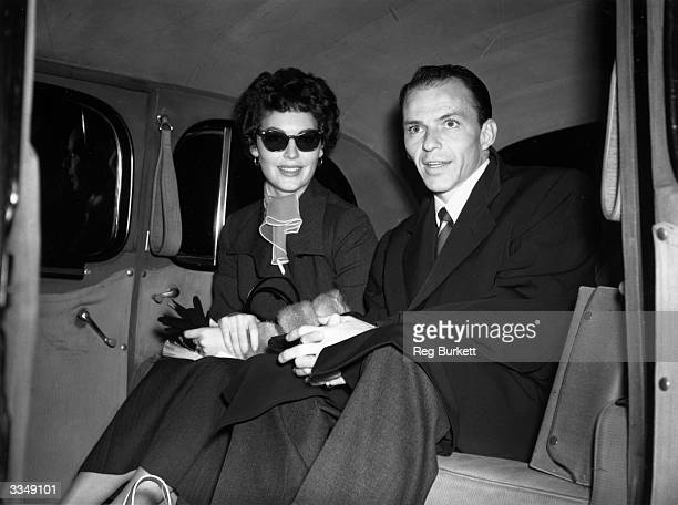 Frank Sinatra and his wife Ava Gardner leaving London for a trip to Africa where Ava is to make a film