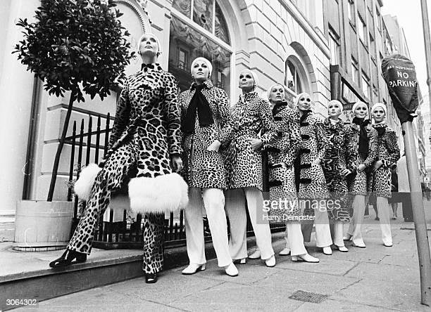 Dancers from the Norbert Schmitt Corps de Ballet model fur coats by Dior