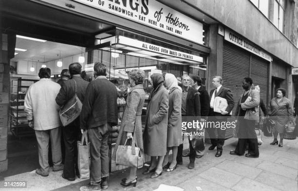 Industrial action by bakery workers led to widespread shortages throughout Britain in 1978
