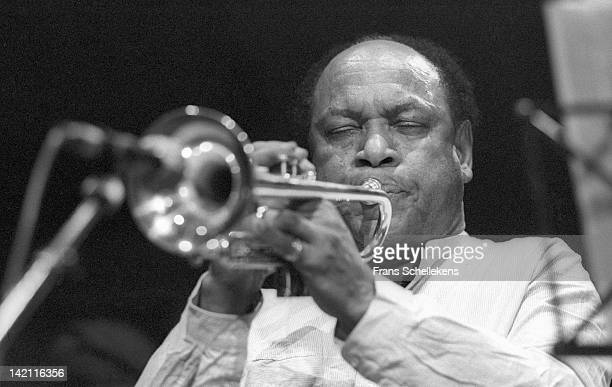 6th NOVEMBER: Jazz trumpet player Harry Beckett performs live on stage at the BIM Huis in Amsterdam, Netherlands on 6th November 1986.