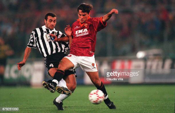 A 6th round ROMA VS JUVENTUS 01 VINCENZO MONTELLA of AS Roma AND PAOLO MONTERO of Juventus compete for the ball