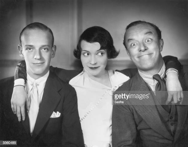 Brother and sister dancing partners Fred and Adele Astaire along with Leslie Henson in a production of 'Funny Face' at the Princess Theatre