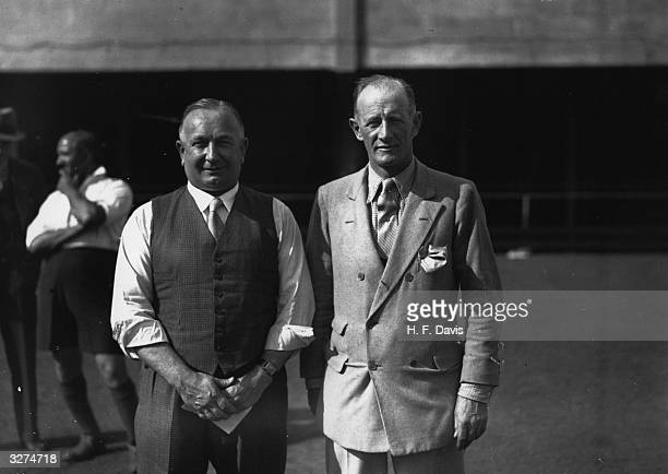 Herbert Chapman the Arsenal manager is with Mr Foster of the International Group Of Brothers who have been instrumental in setting up soccer classes...
