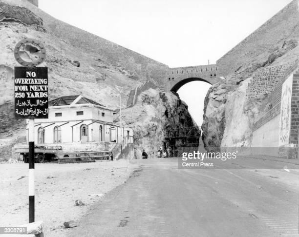 The historic pass which connects the old city of Aden with the new and which will be destroyed by explosives to make way for a new fourlane highway