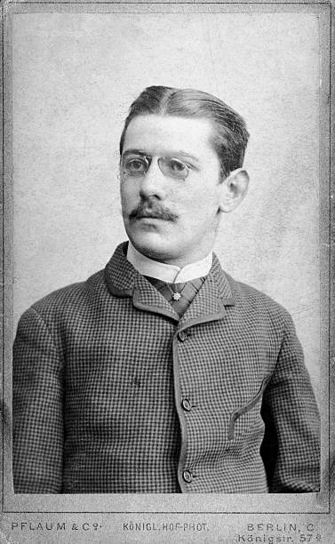 6x10cm Carte De Visite Of Man With Moustache And Glasses Berlin