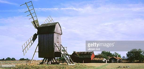 6x12 COL Insel Öland: Windmühle und Bauernhof - 1999