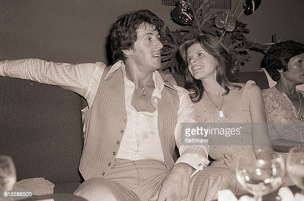 7/06/1978New York NY Gazing adoringly at her husband here is Sasha Stallone He's the Academy Award winner Sylvester 'Rocky' Stallone The couple was...