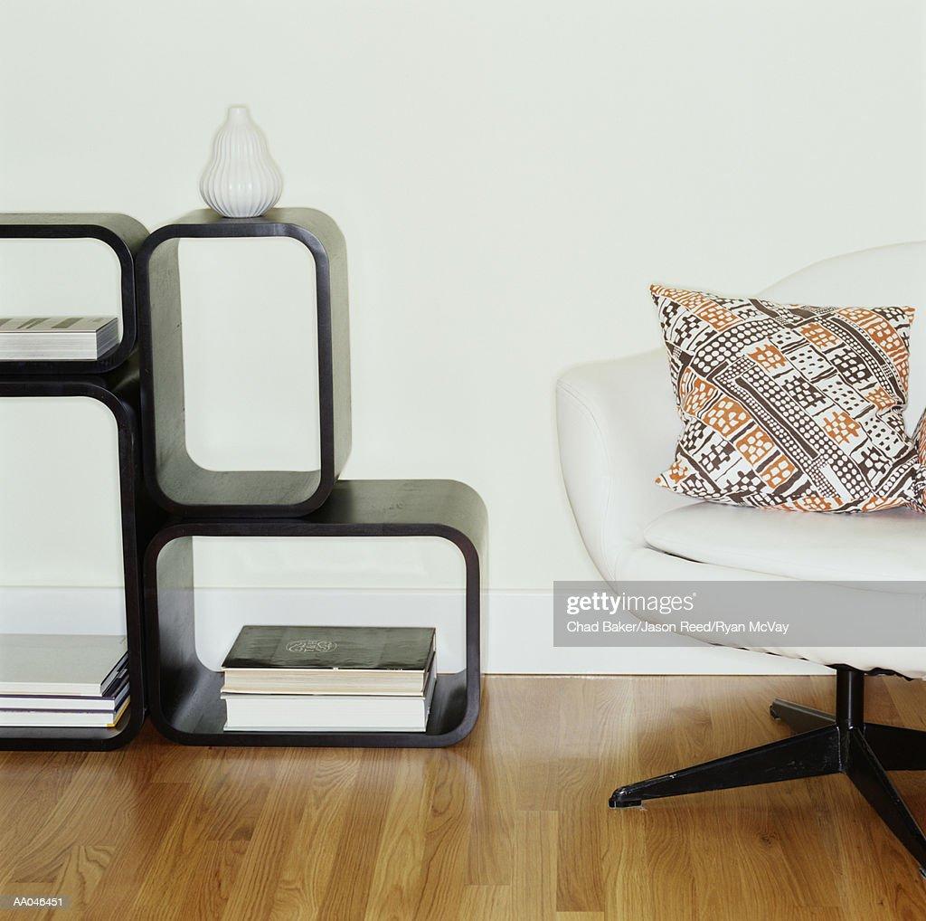 70s Style Living Room : Stock Photo