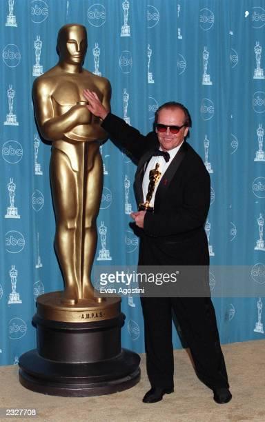 70th ANNUAL ACADEMY AWARDS AT THE SHRINE AUDITORIUM Pressroom: Jack Nicholson Photo: Evan Agostini/Getty Images