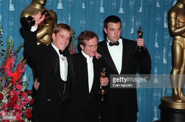 70th ANNUAL ACADEMY AWARDS AT THE SHRINE AUDITORIUM Pressroom: Matt Damon, Ben Affleck & Robin Williams Photo: Evan Agostini/ImageDirect