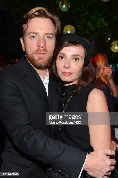 70th ANNUAL GOLDEN GLOBE AWARDS Pictured Actor Ewan McGregor and Eve Mavrakis pose during NBC Universal's Golden Globes PostParty Sponsored by Fiat...