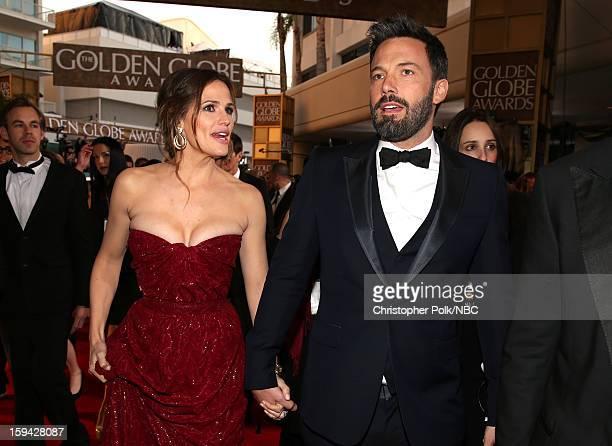 70th ANNUAL GOLDEN GLOBE AWARDS Pictured Actor Jennifer Garner and actor/director Ben Affleck arrive to the 70th Annual Golden Globe Awards held at...
