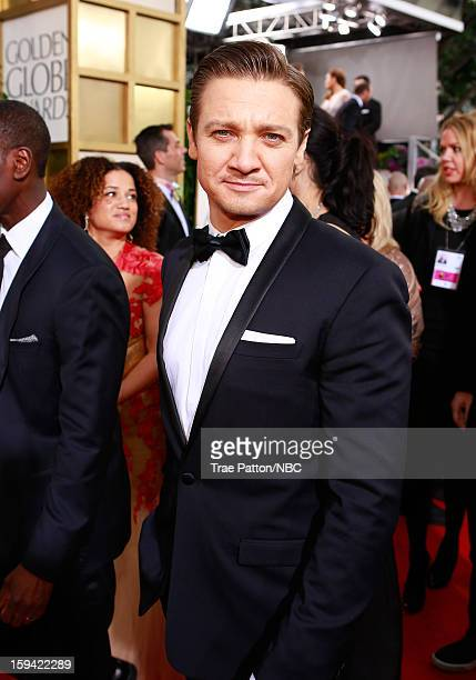70th ANNUAL GOLDEN GLOBE AWARDS Pictured Actor Jeremy Renner arrives to the 70th Annual Golden Globe Awards held at the Beverly Hilton Hotel on...