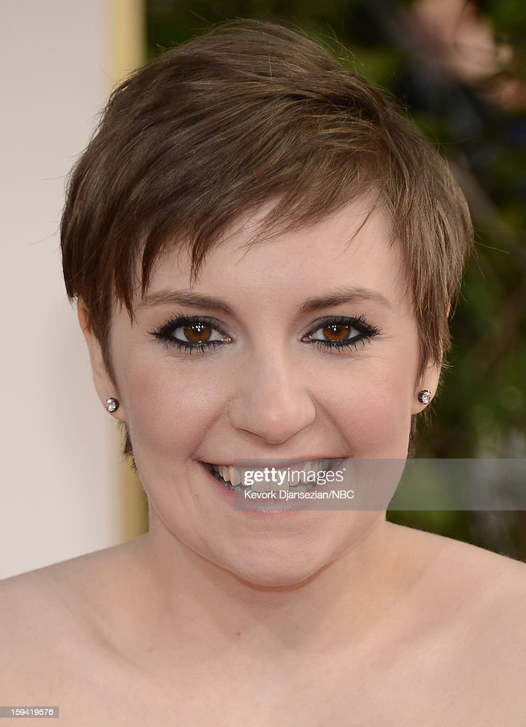 70th ANNUAL GOLDEN GLOBE AWARDS -- Pictured: Actor Lena Dunham arrives to the 70th Annual Golden Globe Awards held at the Beverly Hilton Hotel on January 13, 2013.