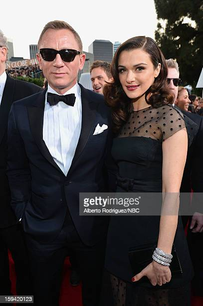 70th ANNUAL GOLDEN GLOBE AWARDS Pictured Actors Daniel Craig and Rachel Weisz arrive to the 70th Annual Golden Globe Awards held at the Beverly...