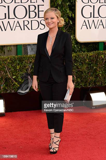 70th ANNUAL GOLDEN GLOBE AWARDS Pictured Actress Amy Poehler arrives to the 70th Annual Golden Globe Awards held at the Beverly Hilton Hotel on...