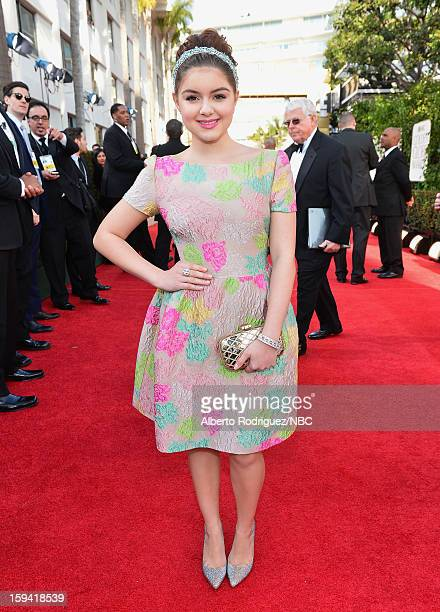 70th ANNUAL GOLDEN GLOBE AWARDS Pictured Actress Ariel Winter arrives to the 70th Annual Golden Globe Awards held at the Beverly Hilton Hotel on...
