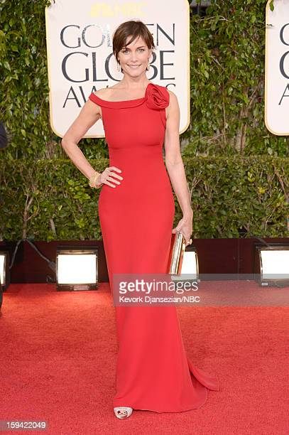 70th ANNUAL GOLDEN GLOBE AWARDS Pictured Actress Carey Lowell arrives to the 70th Annual Golden Globe Awards held at the Beverly Hilton Hotel on...