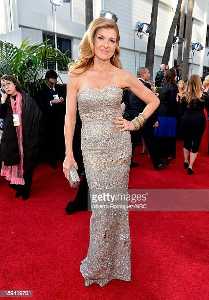 70th ANNUAL GOLDEN GLOBE AWARDS Pictured Actress Connie Britton arrives to the 70th Annual Golden Globe Awards held at the Beverly Hilton Hotel on...