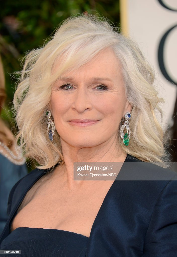 70th ANNUAL GOLDEN GLOBE AWARDS -- Pictured: Actress Glenn Close arrives to the 70th Annual Golden Globe Awards held at the Beverly Hilton Hotel on January 13, 2013.